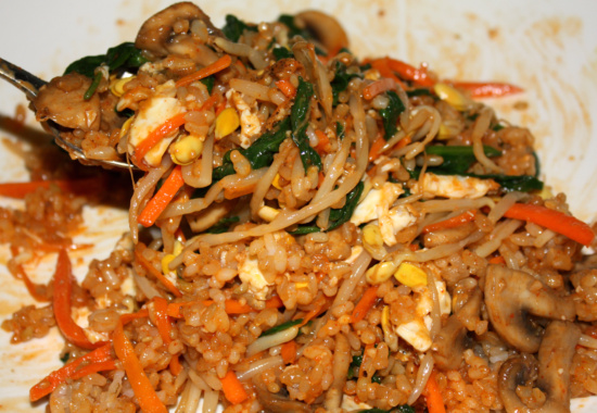 Vegetarian Bibimbap Vegetarian Bibimbap wi...