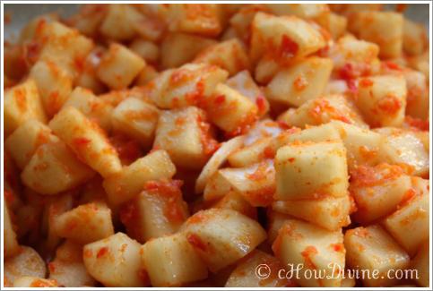 kkakdugi radish kimchi recipe