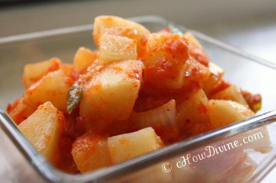 kkakdugi daikon radish kimchi
