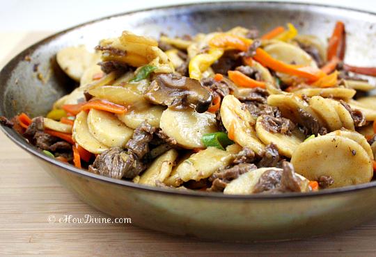 Rice Cake Recipe Korean Spicy: Bulgogi Ddukbokki (Non-Spicy Sautéed Korean Rice Cakes