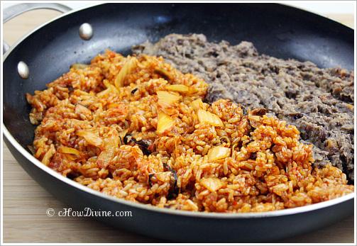 Kimchi Fried Rice and Creamy Black Bean Burritos - cHow Divine...cHow ...