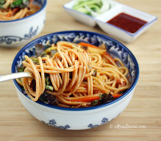 Korean Spicy Cold Noodles Recipe — Dishmaps