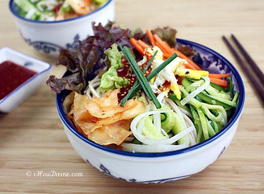 Bibim Guksu (Korean Sweet and Spicy Cold Noodles) - cHow Divine...cHow ...