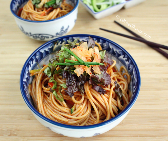 Bibim Guksu (Korean Sweet and Spicy Cold Noodles) - cHow Divine...cHow ...