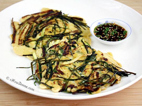 Pajeon (Korean Zucchini Scallion Pancakes)cHow Divine cHow