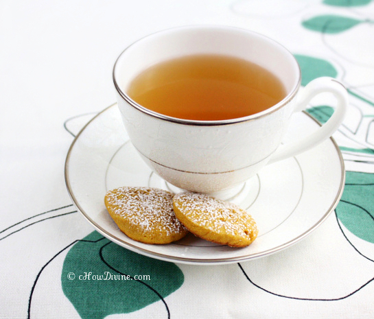 Sweet Potato Cookies with Tea