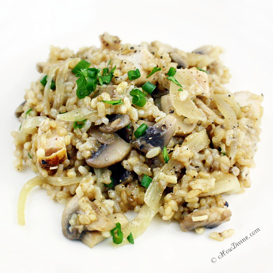 "Mushroom ""Risotto"" - cHow Divine...cHow Divine…"