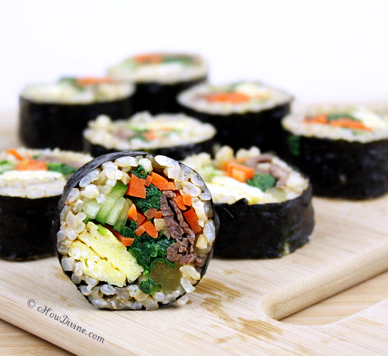 Bulgogi Vegetable Gimbap | cHow Divine