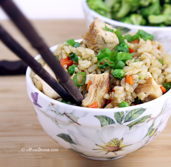Chicken & Vegetable Fried Rice | cHowDivine.com