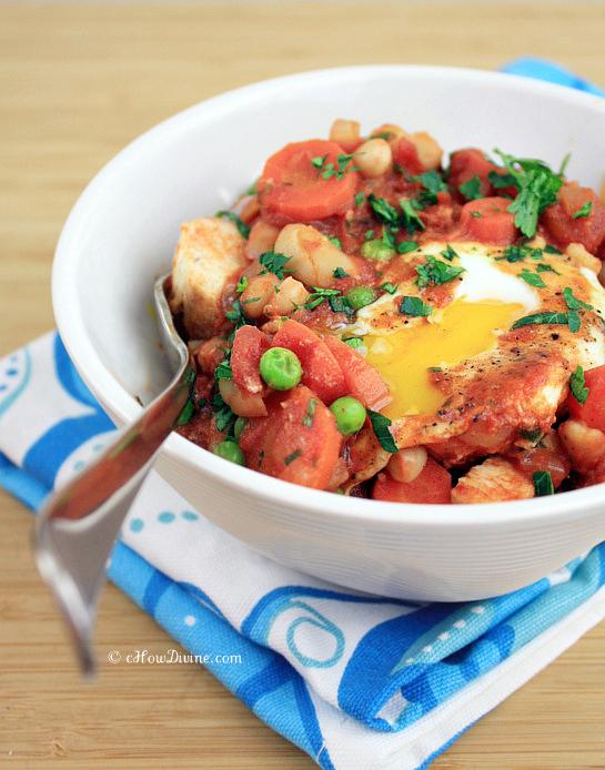 Gochujang Tomato Sauce w/ Poached Eggs | cHowDivine.com