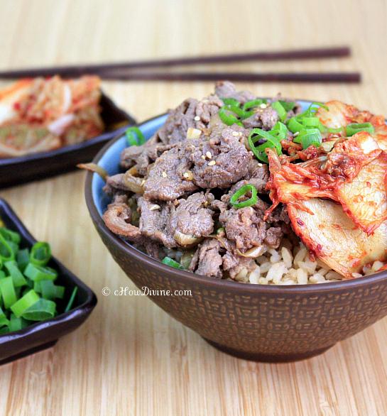 Bulgogi Kimchi Rice Bowl | cHowDivine.com