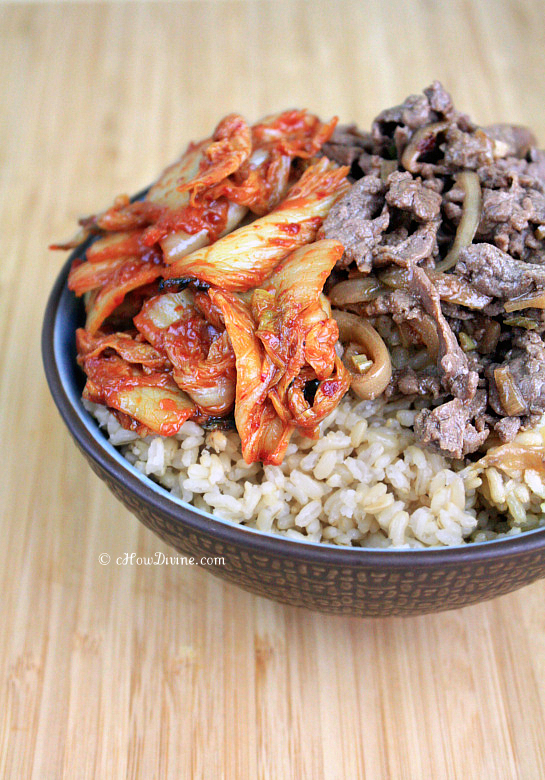 Kimchi Bulgogi Rice Bowl | cHowDivine.com