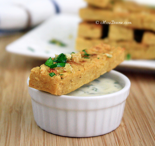 Garlic Chickpea Fries | cHowDivine.com