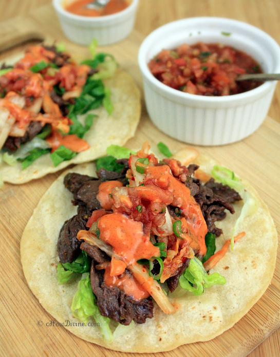 Beef and Kimchi Tacos | cHowDivine.com
