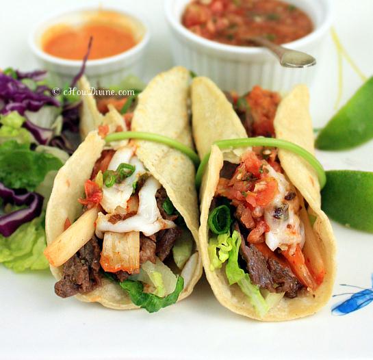Korean-Style Beef Tacos | cHowDivine.com