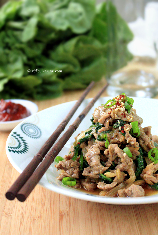 Bulgogi with Spinach | cHowDivine.com