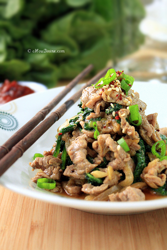 Bulgogi with Wilted Spinach | cHowDivine.com