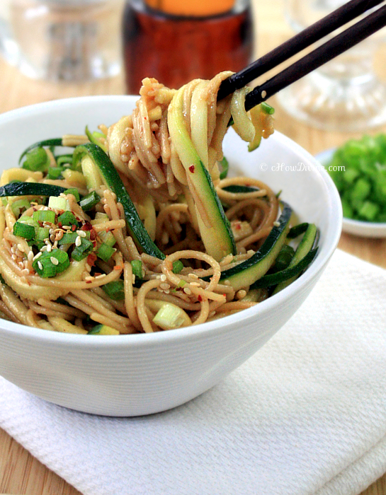 Healthy Ginger-Scallion Noodles - cHow Divine...cHow Divine…