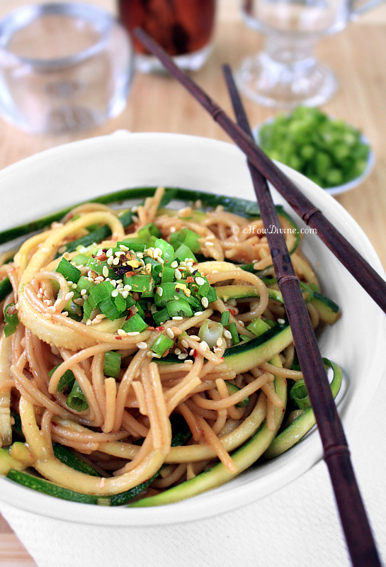Healthy Ginger-Scallion Noodles | cHowDivine.com