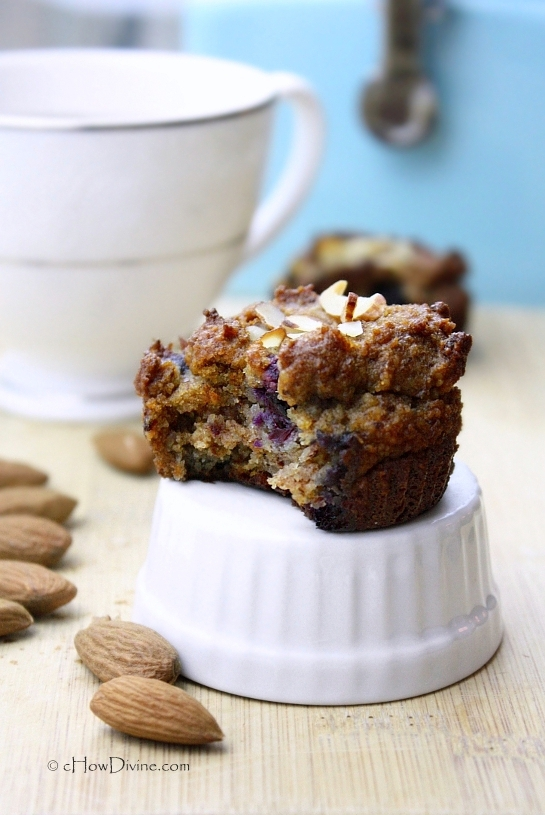Guilt-Free, Grain-Free Almond Blueberry Muffins by cHowDivine.com