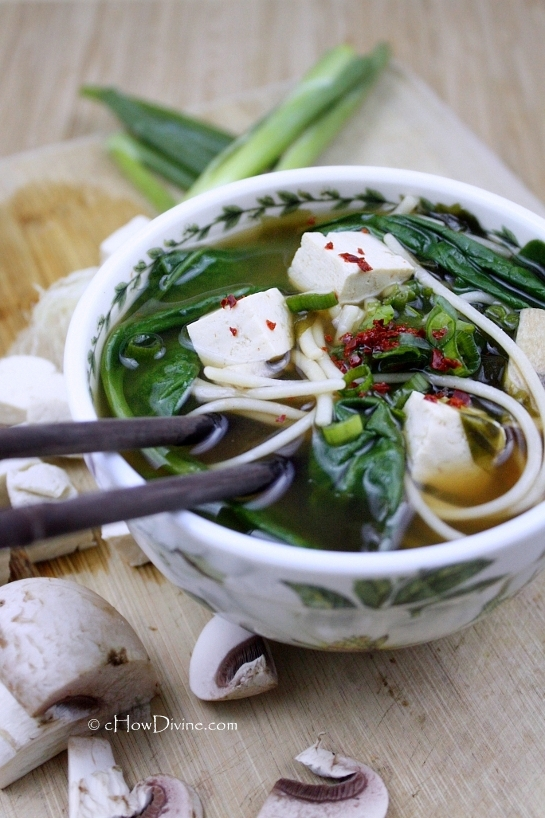 Miso Noodle Soup by cHowDivine.com