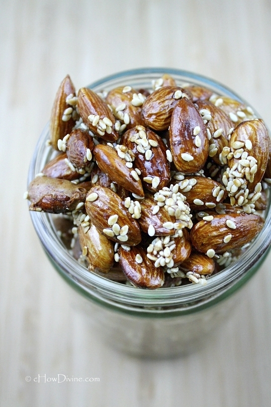 Maple-Sesame Almonds | cHowDivine.com