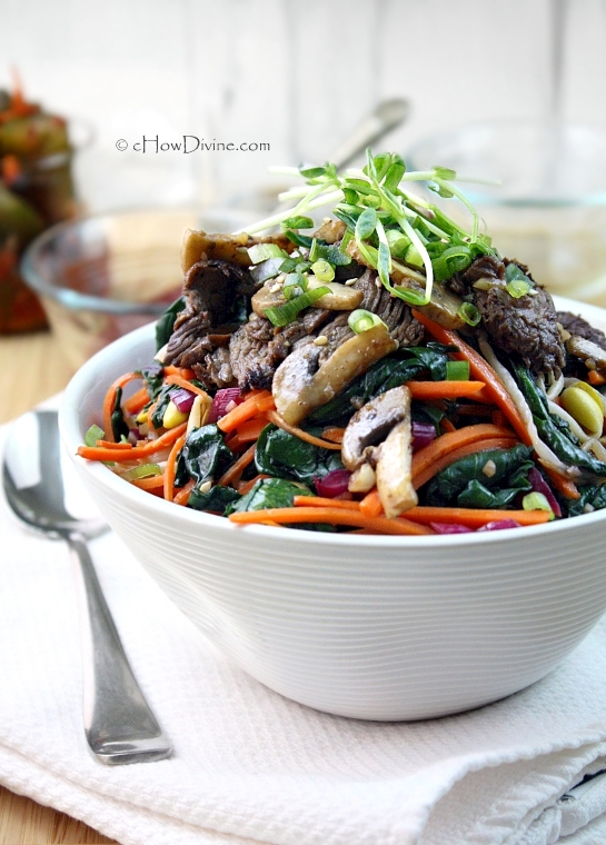 Mixed Vegetables and Beef Bibimbap by cHowDivine.com